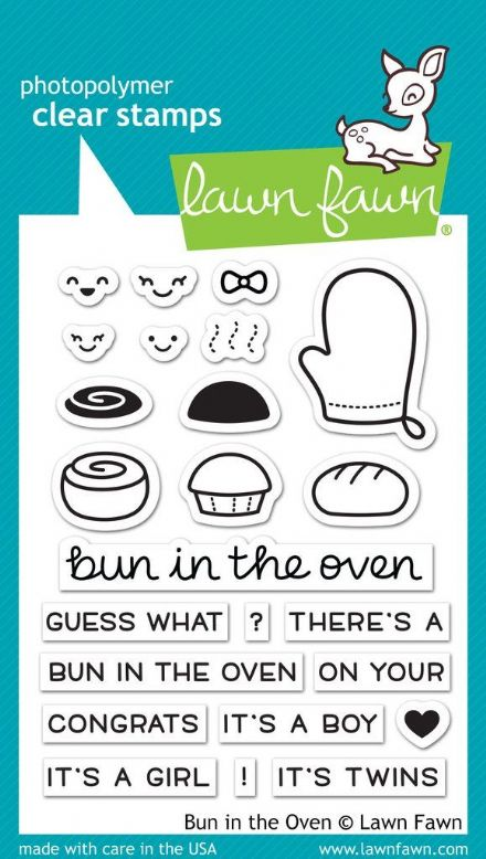 LF1317 - M ~ Bun in the Oven ~ CLEAR STAMPS BY LAWN FAWN